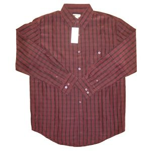 Haggar Shirts - Haggar S Casual Button Front Shirt Wine NWT Men's
